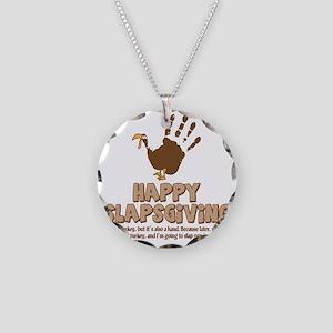 Happy Slapsgiving! Necklace Circle Charm