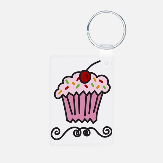 Pink Cupcake Keychains