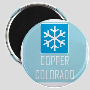 Copper Snowflake Badge Magnet