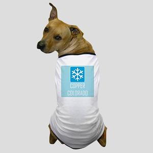 Copper Snowflake Badge Dog T-Shirt