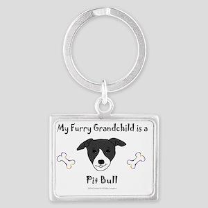 pit bull Landscape Keychain