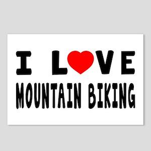 I Love Mountain Biking Postcards (Package of 8)