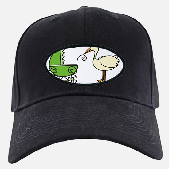 Stork With Stroller Baseball Hat