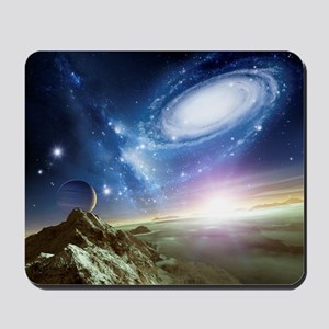 Colliding galaxies, artwork Mousepad