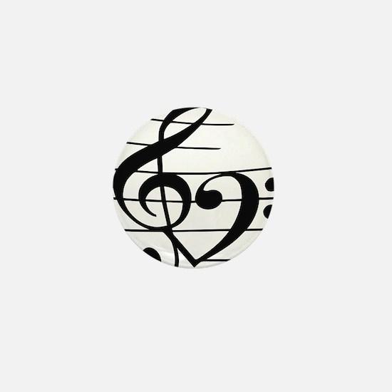 Music heart Mini Button