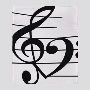 Music heart Throw Blanket