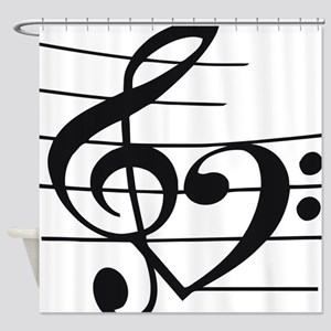 Music heart Shower Curtain