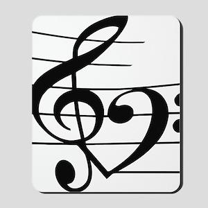 Music heart Mousepad