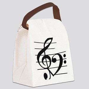 Music heart Canvas Lunch Bag
