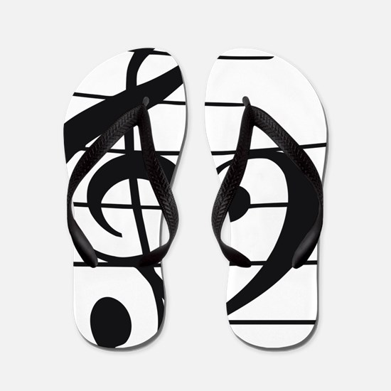 Music heart Flip Flops
