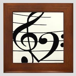 Music heart Framed Tile