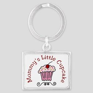 Mommys Little Cupcake Landscape Keychain