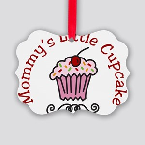 Mommys Little Cupcake Picture Ornament