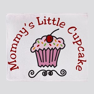 Mommys Little Cupcake Throw Blanket