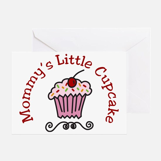 Mommys Little Cupcake Greeting Card