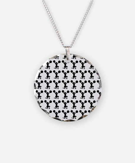Cheerleader Silhouette or Ic Necklace