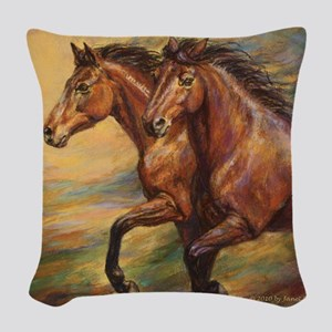 Mystic Melody Woven Throw Pillow