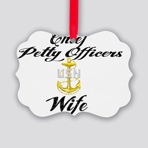 CPO Wife Picture Ornament
