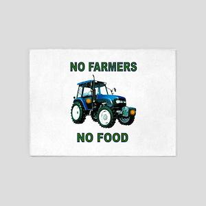 NO FARMERS FOOD 5'x7'Area Rug
