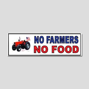 NO FARMERS FOOD Car Magnet 10 X 3