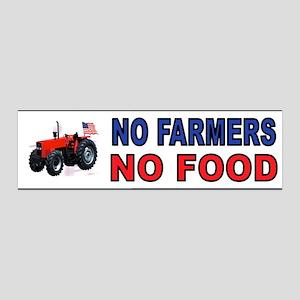 NO FARMERS FOOD Wall Decal