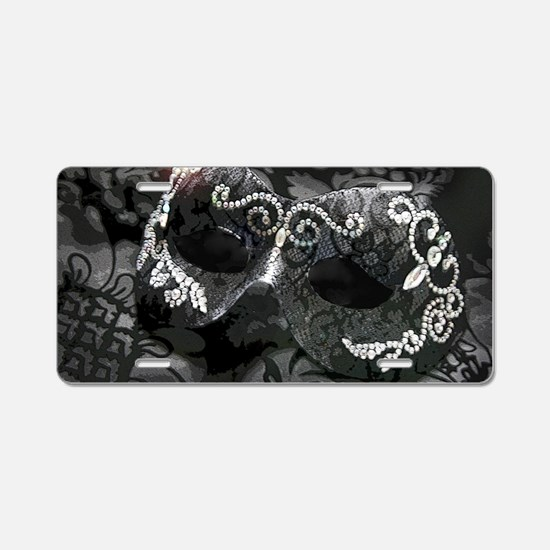 Dazzling Midnight Masquerad Aluminum License Plate