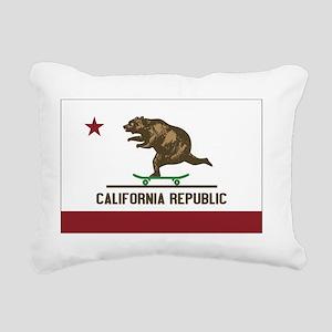California Skateboarding Rectangular Canvas Pillow