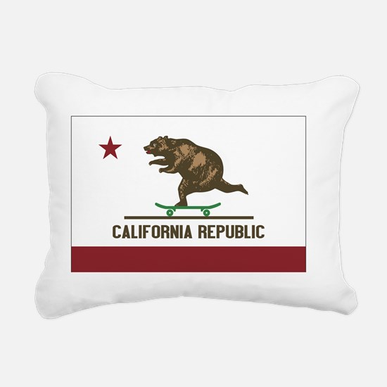 California Skateboarding Rectangular Canvas Pillow