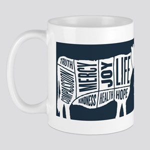 Words to Lie By Cow, Navy Mug