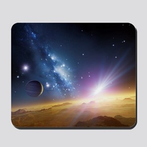 Extrasolar gas giant planet, artwork Mousepad