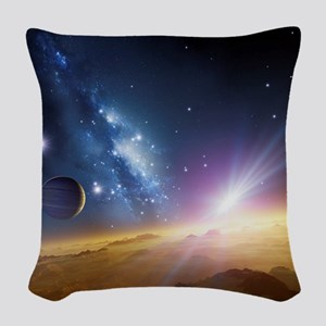 Extrasolar gas giant planet, a Woven Throw Pillow