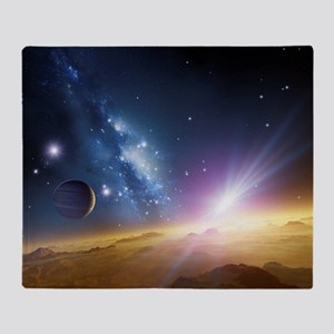 Extrasolar gas giant planet, artwork Throw Blanket