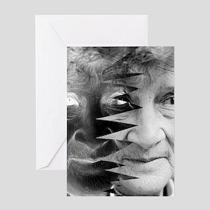 Dementia, conceptual image Greeting Card