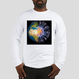Global flu pandemic, artwork Long Sleeve T-Shirt