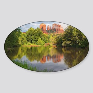 Red Rock Crossing, Sedona, Arizona Sticker (Oval)