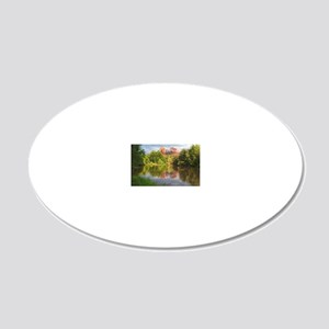 Red Rock Crossing, Sedona, A 20x12 Oval Wall Decal