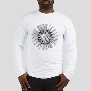 H1N1 flu virus particle, artwo Long Sleeve T-Shirt