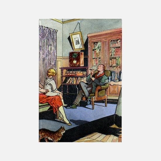 Family life, 1930s artwork Rectangle Magnet