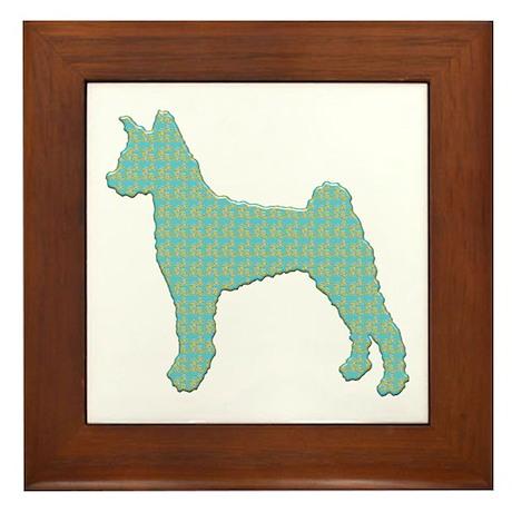 Paisley Pumi Framed Tile