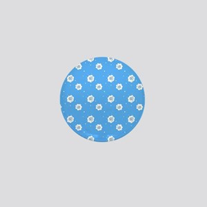 Blue Abstract Dreams Designer Mini Button
