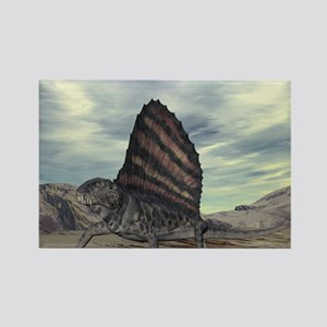 Dimetrodon, artwork Rectangle Magnet