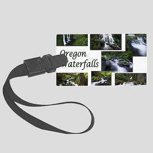 Oregon Waterfalls Large Luggage Tag