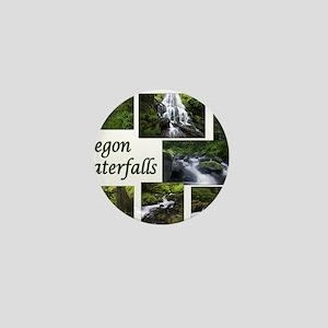 Oregon Waterfalls Mini Button