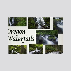 Oregon Waterfalls Rectangle Magnet