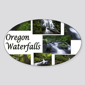 Oregon Waterfalls Sticker (Oval)