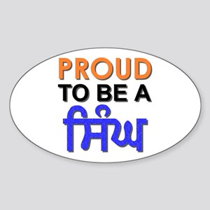 Proud to be a Singh Oval Sticker