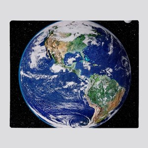 Earth from space, satellite image Throw Blanket