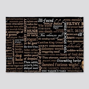 Shakespeare Insults 5'x7'Area Rug