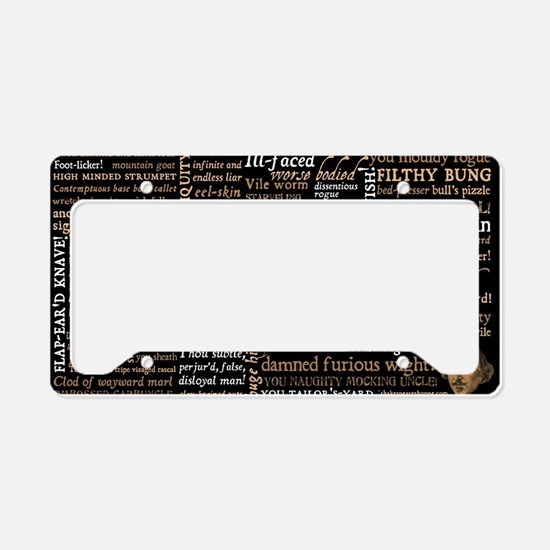 Shakespeare Insults License Plate Holder