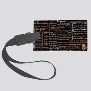 Shakespeare Insults Large Luggage Tag